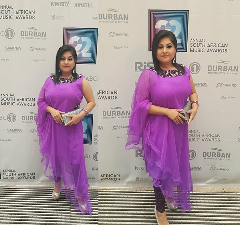 Purple Power for celebrity author Nirvadha Singh