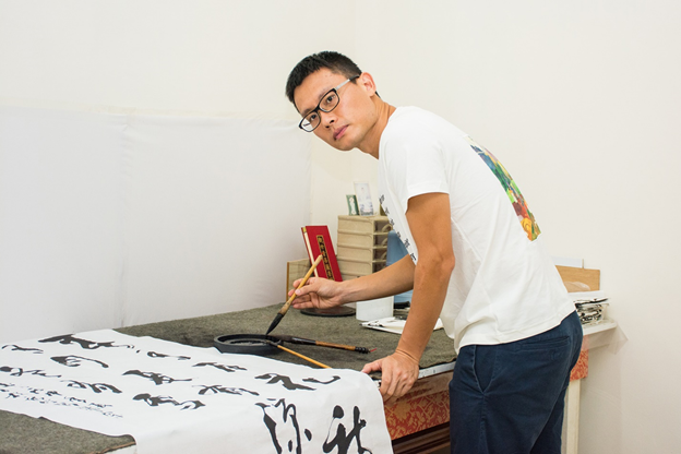 The magic of Chinese Calligraphy, soon to be on exhibit by Taiwan artist!